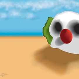 Del Gaizo - Clown Skull in the Desert