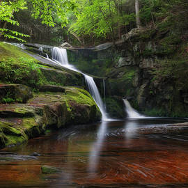 Enders Falls Spring Square by Bill Wakeley
