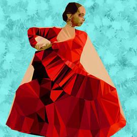 Flamenco Dancer in Spain by Bruce Nutting