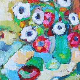 Becky Kim - Flowers in Green Vase