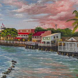Front Street Lahaina At Sunset by Darice Machel McGuire