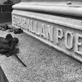 Grave Of Edgar Allen Poe In Baltimore Maryland by William Kuta