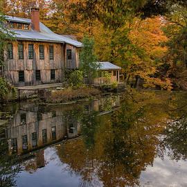 Hadley Upper Mill In Autumn by Jeff Folger
