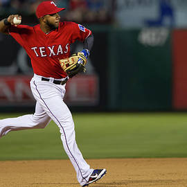 Houston Astros V Texas Rangers by Cooper Neill