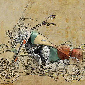Indian Chief Vintage 2012 by Drawspots Illustrations