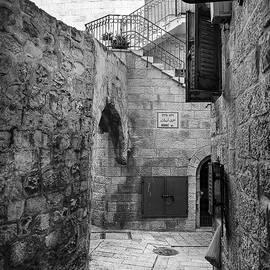 Blue shutters, Jerusalem by Alexey Stiop