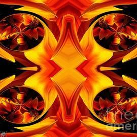 J McCombie - Kiss Orange Flame Abstract