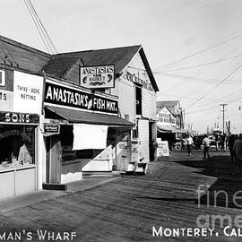 Montereys Fisherman Wharf with Anastasias Fish Market circa 1948 by California Views Archives Mr Pat Hathaway Archives