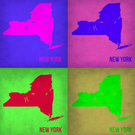 New York Pop Art Map 1 by Naxart Studio
