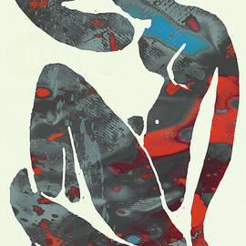 Kim Wang - Nude pop stylised paper cut art poster
