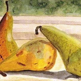 Pears Ripening On The Windowsill by Angela Davies