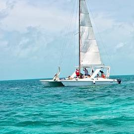 Sailing in Belize by Kristina Deane