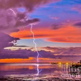 Shocking Pink Sunset by Stephen Whalen