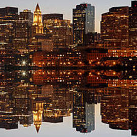 Skyline Panorama of Boston by Juergen Roth