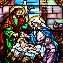 St. Marys Nativity Stained Glass by Debby Pueschel