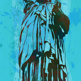 Kim Wang - Statue Liberty - pop stylised art poster