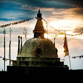 Raimond Klavins - Stupa in Himalyas Mountain
