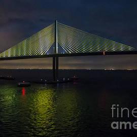 Sunshine Skyway Bridge Tampa Florida by Rene Triay Photography
