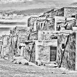 Taos Pueblo Abstract by Wayne Wood