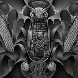 Tapestry Of Gods - Chicomecoatl by Ricardo Chavez-Mendez