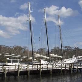 Three Mast Sailboat by Ralph Jones