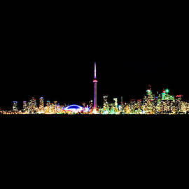 Brian Carson - Toronto Skyline At Night From Centre Island