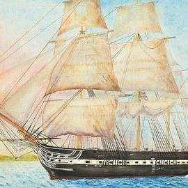 Carl Hartsfield - USS Constitution Passes Cape Henry with Orders to Capture or Destroy
