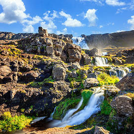 Waterfall Dynjandifoss in Iceland by Alexey Stiop