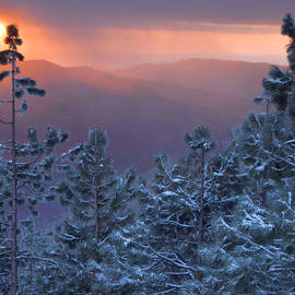 Winter Sunset - Kings Canyon by Stephen  Vecchiotti