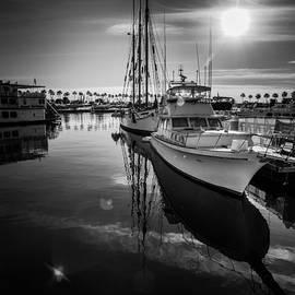Sviatlana Kandybovich - Yacht at the pier on a sunny day