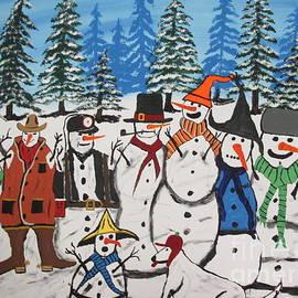 10 Christmas Snowmen  by Jeffrey Koss
