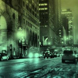 Miriam Danar - 10 P M on 42nd Street - New York City at Night - Colorized