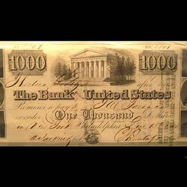 1000 Dollar US Currency Philadelphia Bill by Thomas Woolworth
