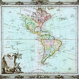 MotionAge Designs - 1764 Brion de la Tour Map of America North America South America Geographicus America delisle 1764