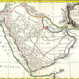 MotionAge Designs - 1771 Bonne Map of Arabia Geographicus Arabia bonne 1771