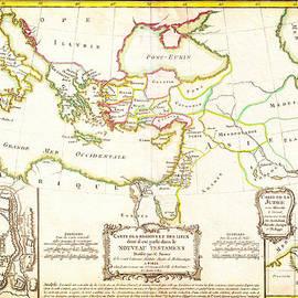 MotionAge Designs - 1771 Bonne Map of the New Testament Lands w Holy Land and Jerusalem Geographicus NewTestament bonne