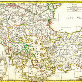 MotionAge Designs - 1771 Janvier Map of Greece Turkey Macedonia andamp the Balkans Geographicus TurqEurope janvier 1771