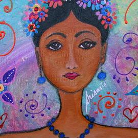 Frida Kahlo by Pristine Cartera Turkus