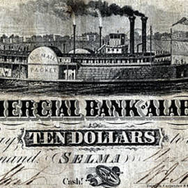 1858 Alabama Ten Dollar Note by Historic Image