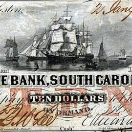 1860 South Carolina Ten Dollar Note by Historic Image
