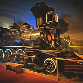 1880 Steam Locomotive  by L Wright