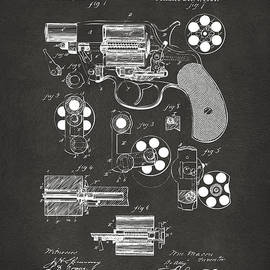 1881 Colt Revolving Fire Arm Patent Artwork - Gray by Nikki Marie Smith