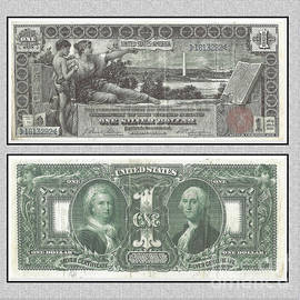 1896 Education Series Silver Certificate by Charles Robinson