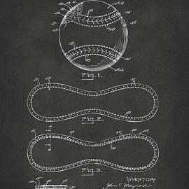 1928 Baseball Patent Artwork - Gray by Nikki Marie Smith