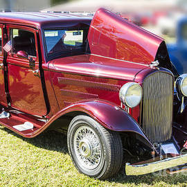 1932 Plymouth With Suicide Doors In Color 3043.02 by M K Miller