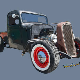1936 Rat Rod Chevy Pickup by Chas Sinklier