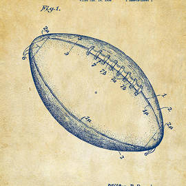 1939 Football Patent Artwork - Vintage by Nikki Marie Smith