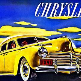 1941 Yellow Chrysler Sedan Ad by Florian Rodarte