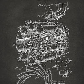 1946 Jet Aircraft Propulsion Patent Artwork - Gray by Nikki Marie Smith