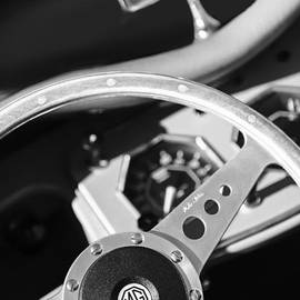 Jill Reger - 1954 MG TF Steering Wheel Emblem -0920bw